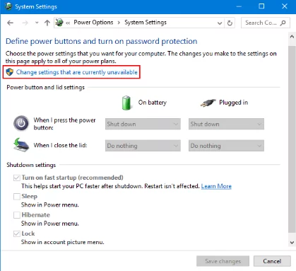 Windows 10 sleep button missing fix