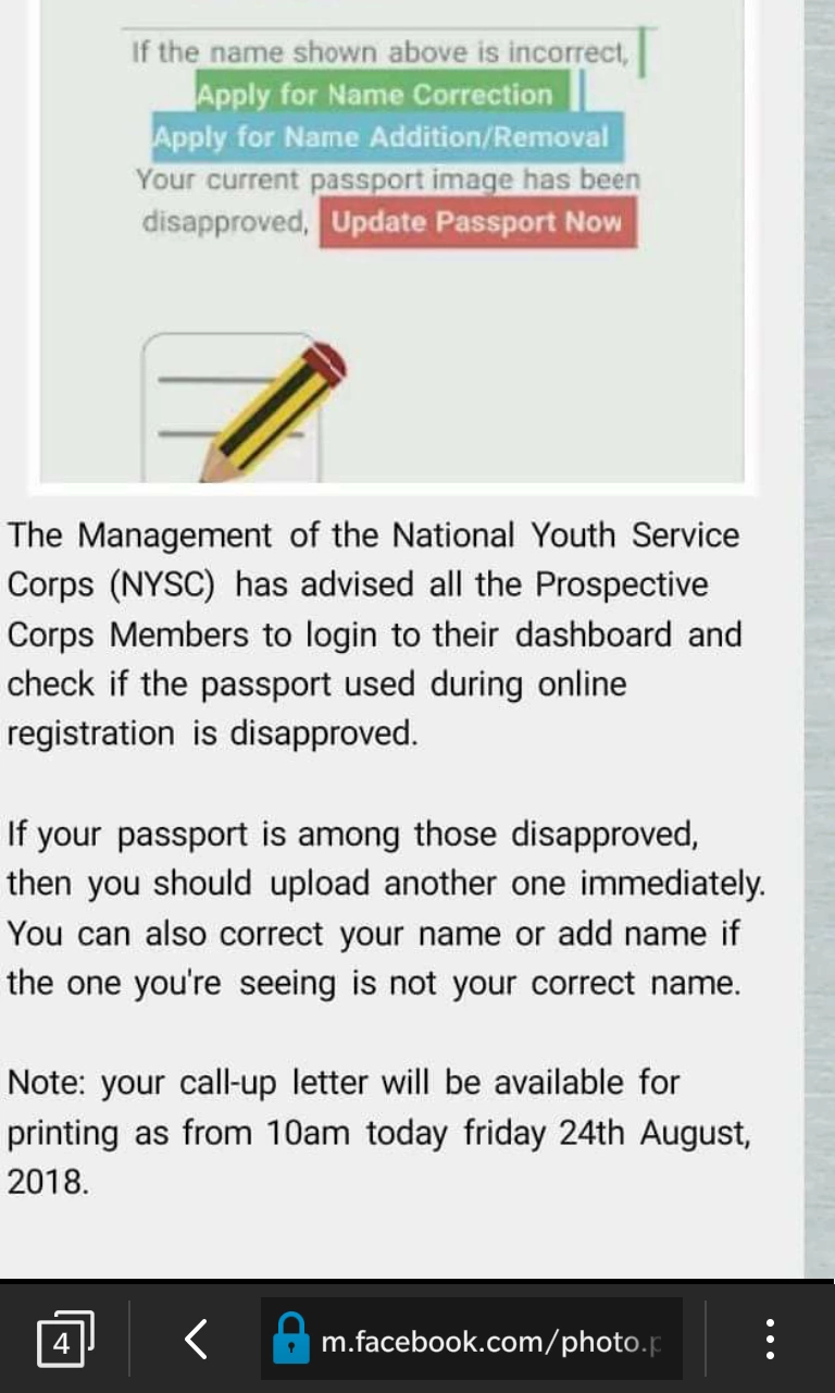 All NYSC 2018 Batch B Stream II Should Check Dashboard And Fix This - Urgent!
