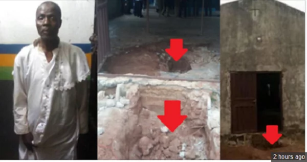 BREAKING: OGUN POLIC UNCOVER HUMAN PARTS IN CHURCH, ARREST 77-YEAR-OLD PASTOR, 3 others in Ogun state