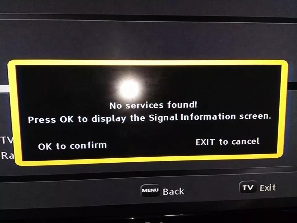 no service found on my GOtv decoder
