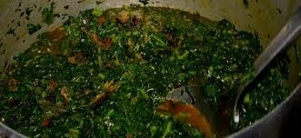 Learn To Prepare Edikang Ikong Soup With Kpomo And Okazi Leaves