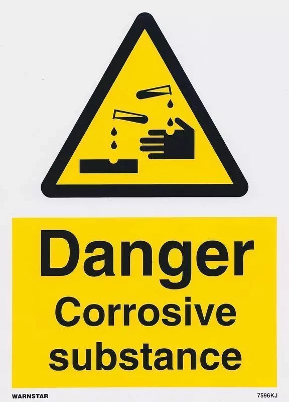 Corrosive substance - Examples, safety precaution & emergency plan
