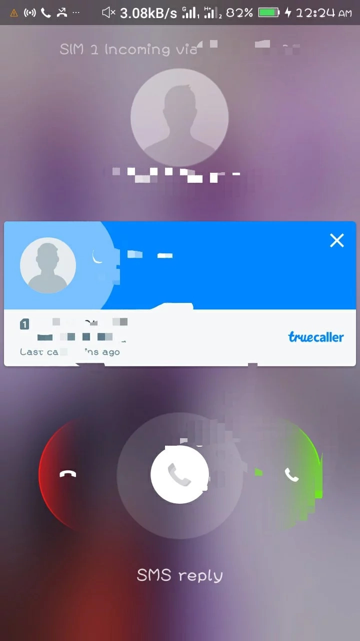 How do I find out which sim is receiving the incoming call in an android dual sim phone