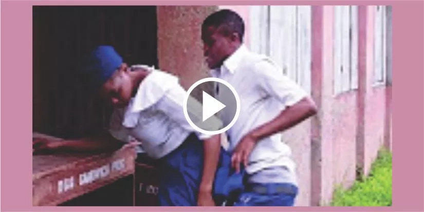 WATCH VIDEO: TWO SECONDARY SCHOOL STUDENTS KAUGHT IN THE ACT - WATCH NOW B4 IT DELETES