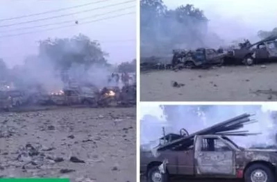 3 bombs explode in Maiduguri as Boko Haram terrorists engage soldiers in gun battle for 1 hour (photos)