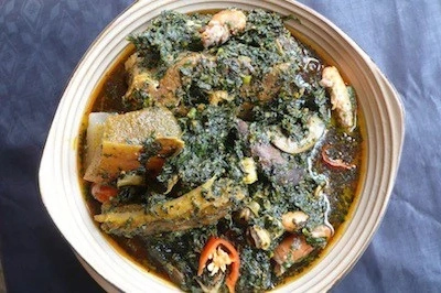How To Cook Edikang Ikong Soup With Bush Meat And Bitter Leaves