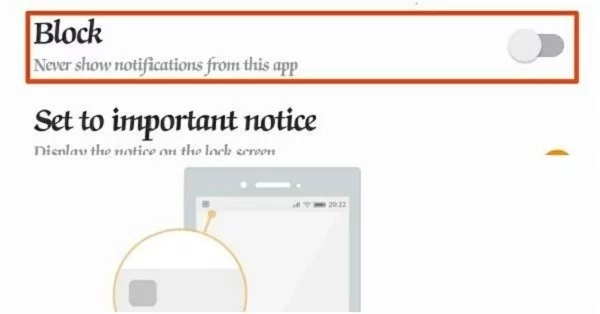 Stop notifications from any Android app